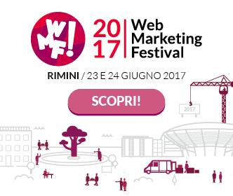 La mia agenda al Web Marketing Festival